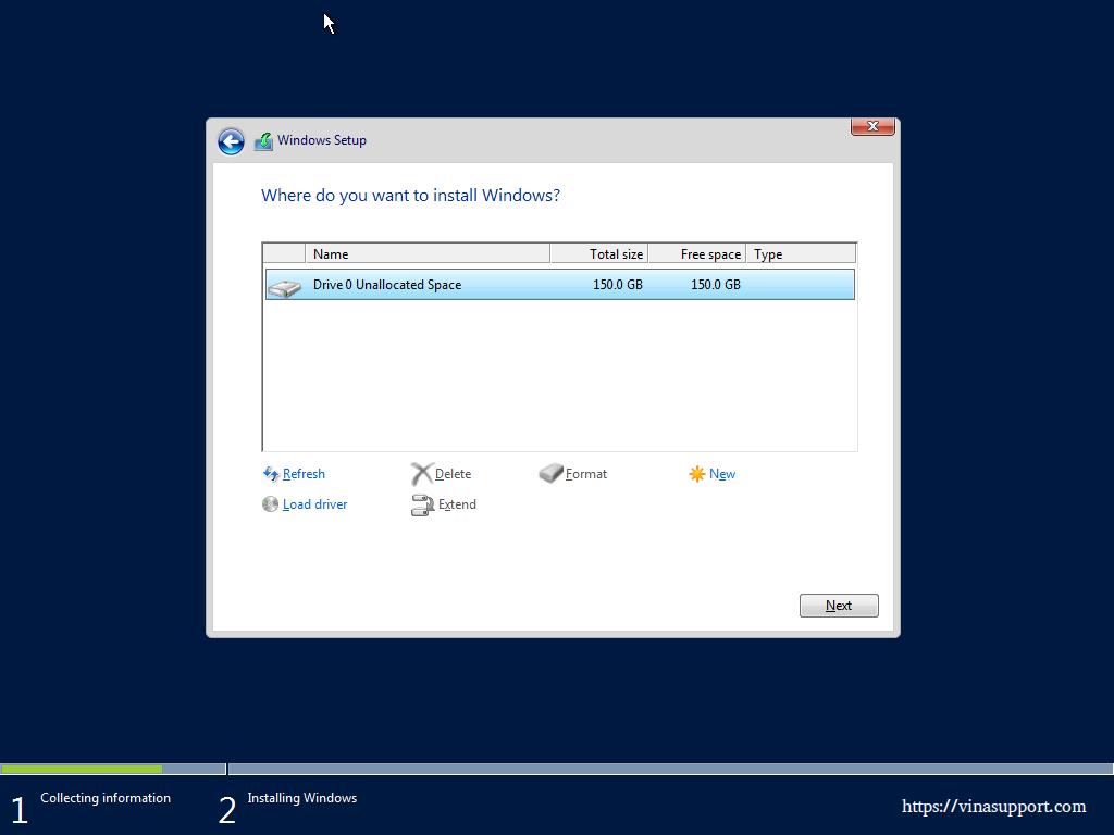 Huong dan cai dat Windows Server 2016 - Buoc 7