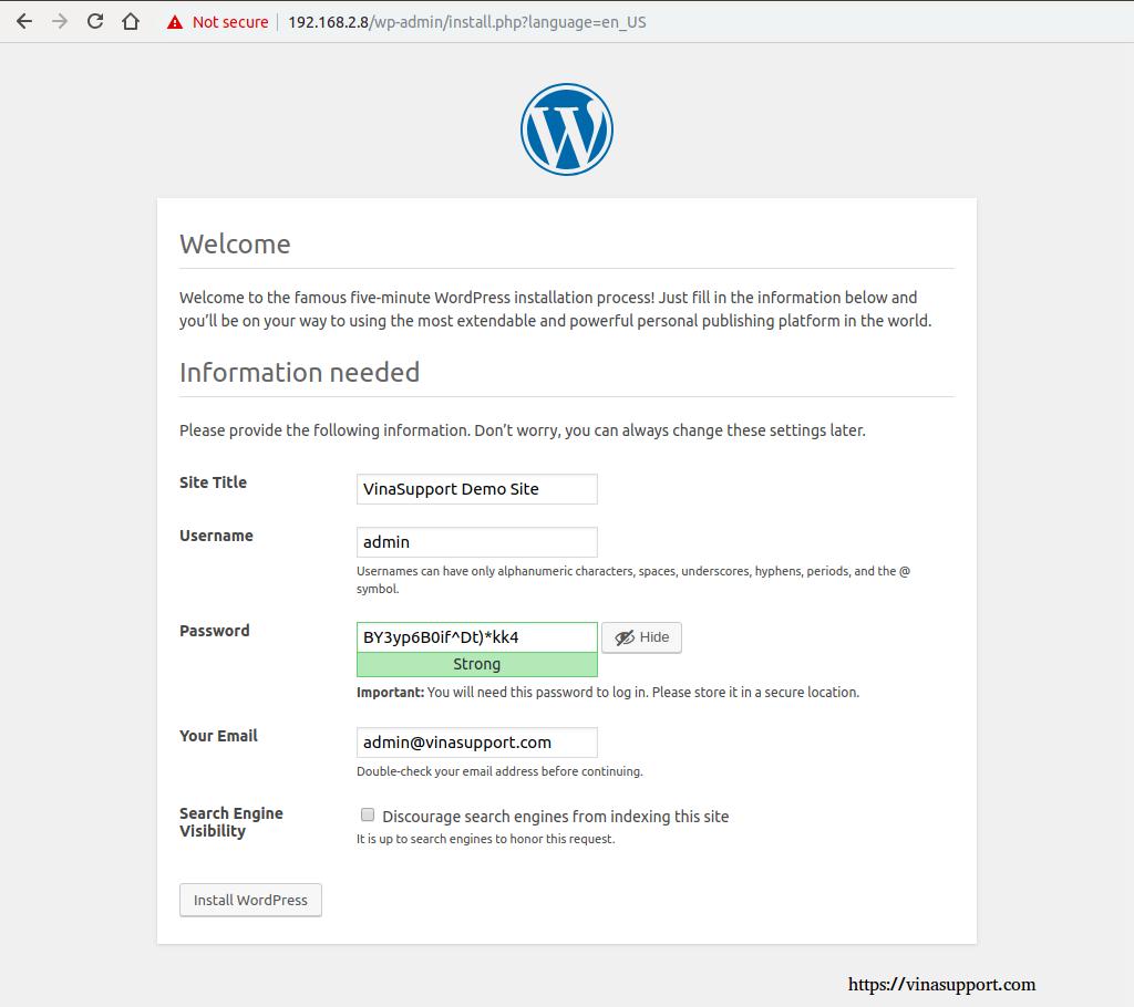 Cai dat va cau hinh WordPress buoc 5