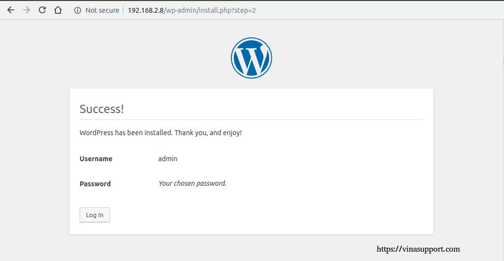 Cai dat va cau hinh WordPress buoc 6