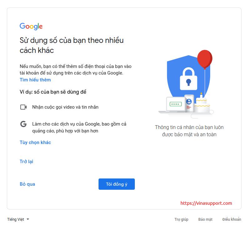 Tao tai khoan Gmail mien phi 6