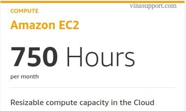 750 Giờ sử dụng Amazon EC2