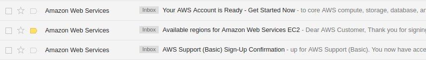 AWS email đăng ký thành công