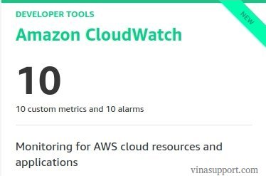 Miễn Phí dịch vụ Amazon CloudWatch