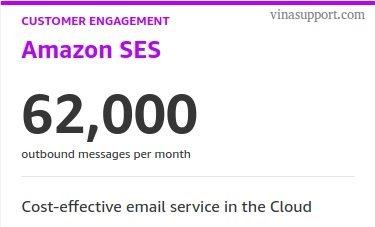Miễn phí dịch vụ Amazon SES
