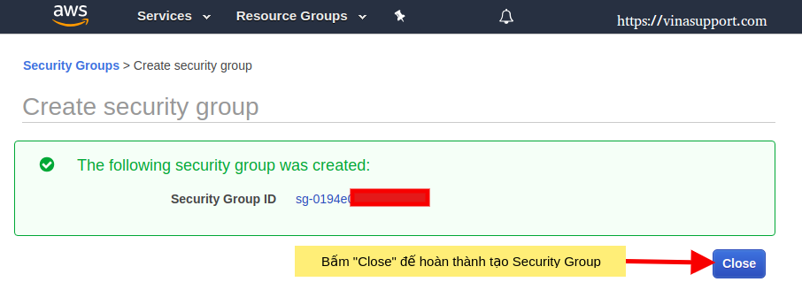 AWS - Tạo Security Group Step 3